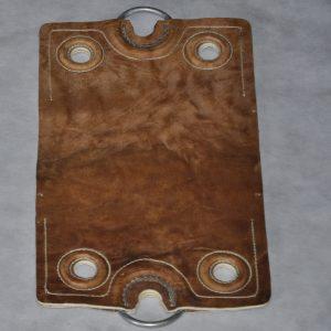 Encimeras dobles de cuero crudo codigo 0454